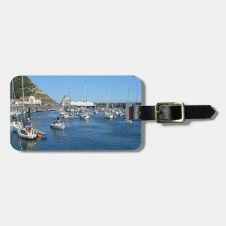 Scarborough harbour luggage tag