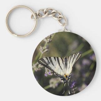 Scarce Swallowtail (Iphiclides podalirius) Basic Round Button Keychain