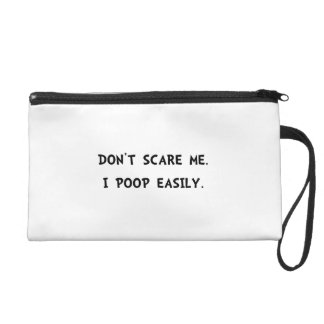 Scare Poop Wristlet Clutches
