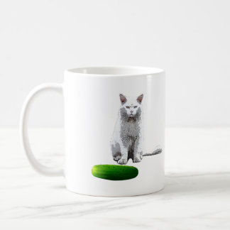 Scare the Cat with a Cucumber Coffee Mug