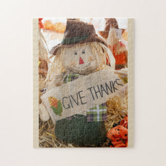 "Scarecrow 11"" x 14"" Puzzle with Gift Box"