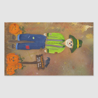 Scarecrow and pumpkins stickers