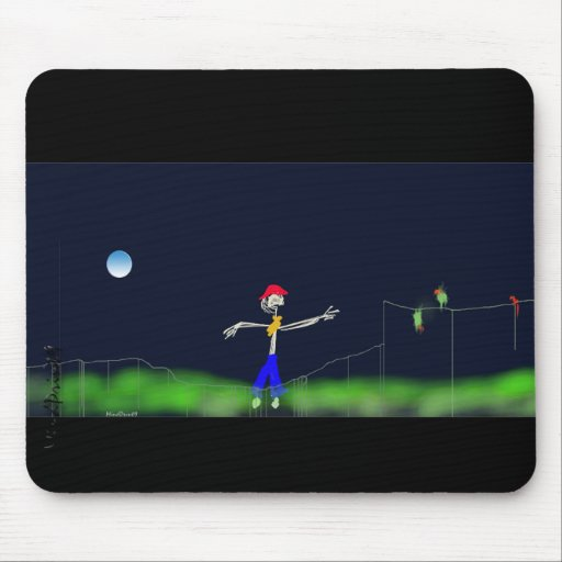 Scarecrow and the moon mouse pads