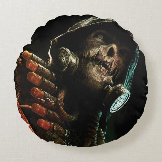 Scarecrow Character Art Round Pillow
