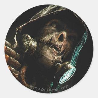 Scarecrow Character Art Round Sticker