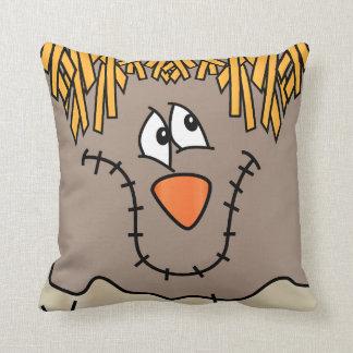 Scarecrow Face | Halloween Throw Pillow