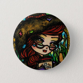Scarecrow Fairytale Girl Fairy Fantasy 2 Inch Round Button