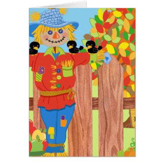 scarecrow fence scene i card