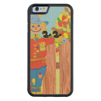 scarecrow fence scene i carved maple iPhone 6 bumper case