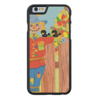 scarecrow fence scene i carved maple iPhone 6 case