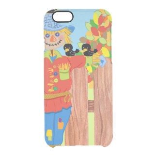 scarecrow fence scene i clear iPhone 6/6S case
