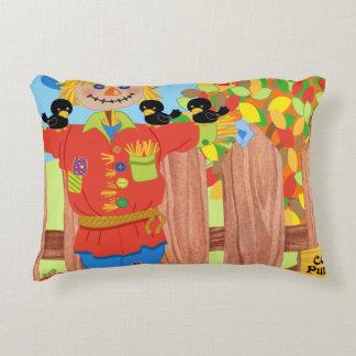 scarecrow fence scene i decorative pillow