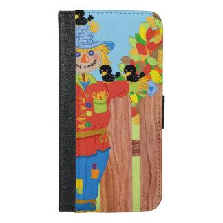 scarecrow fence scene i iPhone 6/6s plus wallet case