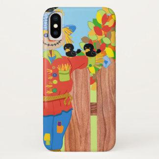 scarecrow fence scene i iPhone x case