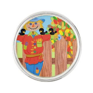 scarecrow fence scene i lapel pin
