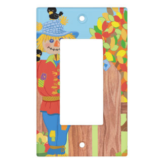 scarecrow fence scene i light switch cover