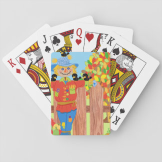 scarecrow fence scene i playing cards
