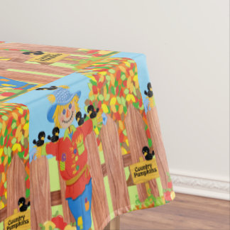 scarecrow fence scene i tablecloth