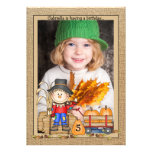 Scarecrow Frame Photo Invitation