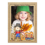 Scarecrow Frame Photo Invitation