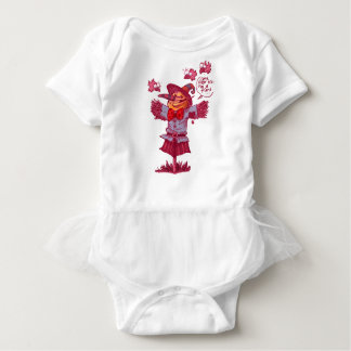 scarecrow gives friendship message cartoon baby bodysuit