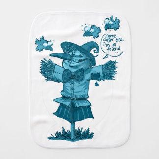 scarecrow gives friendship message cartoon baby burp cloth