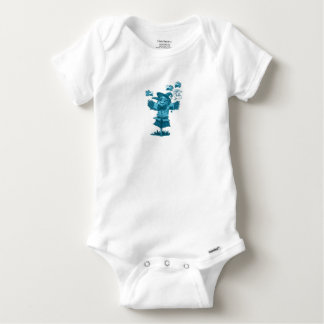 scarecrow gives friendship message cartoon baby onesie