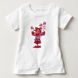 scarecrow gives friendship message cartoon baby romper