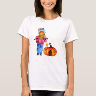 Scarecrow Guarding Pumpkin T-Shirt
