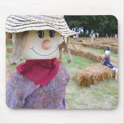 Scarecrow in a Pumpkin Patch Mouse Pad