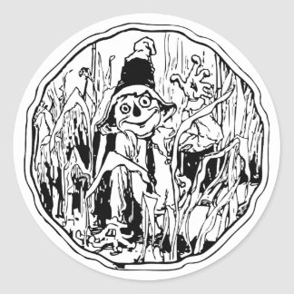 Scarecrow in the Corn Classic Round Sticker