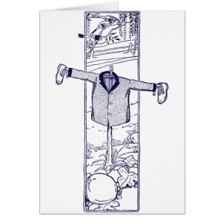 Scarecrow in the Garden Greeting Card