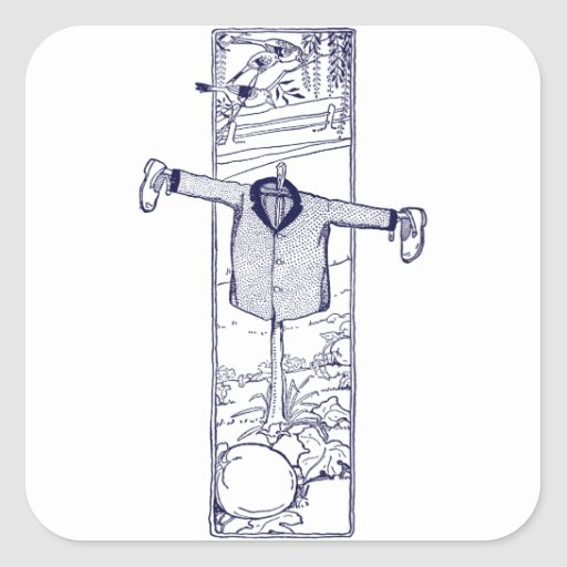 Scarecrow in the Garden Stickers