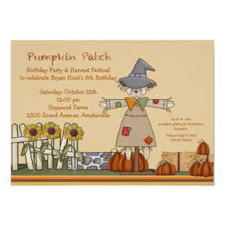 Scarecrow Invitation