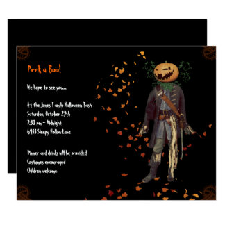 Scarecrow Jack Halloween Party Invitation