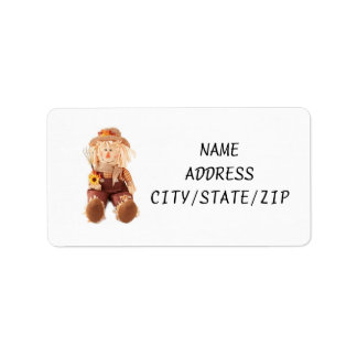 """""""SCARECROW"""" OR """"FALL"""" ADDRESS LABELS"""