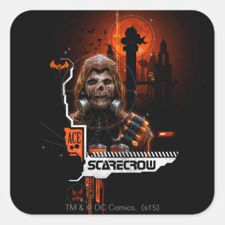 Scarecrow Orange Graphic Square Sticker