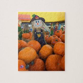 Scarecrow & Pumpkins #2 Jigsaw Puzzle