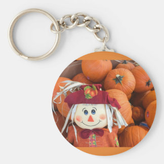 Scarecrow & Pumpkins Keychain