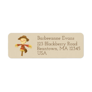 Scarecrow Return Address Label