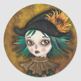 Scarecrow Round Sticker
