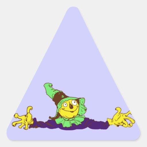 Scarecrow scarecrow triangle stickers