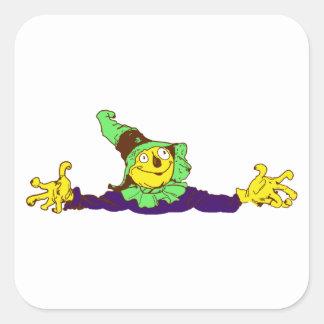 Scarecrow scarecrow square stickers