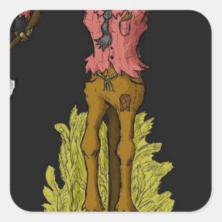scarecrow square sticker