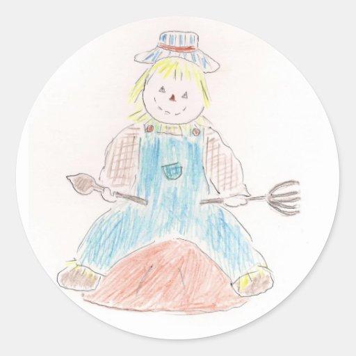Scarecrow sticker