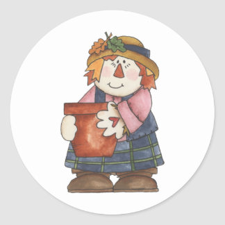 Scarecrow Round Stickers