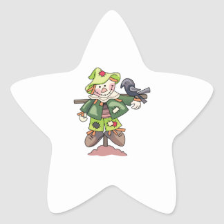 SCARECROW WITH CROW STAR STICKERS
