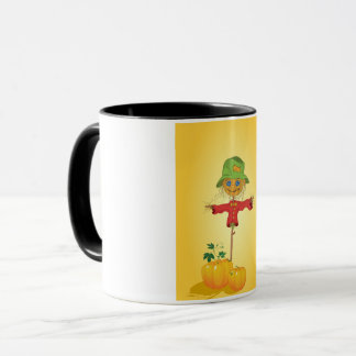 Scarecrow With Pumpkins Mug