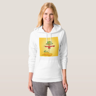Scarecrow With Pumpkins Womens Hoodie