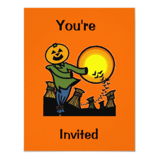 """Scarecrow, You're, Invited 4.25"""" X 5.5"""" Invitation Card"""